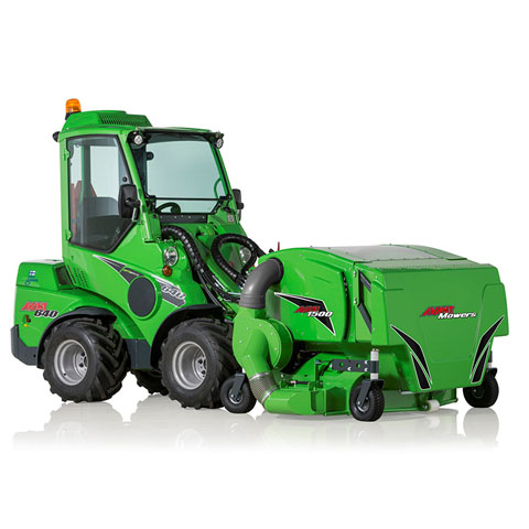 Avant loader collecting lawnmowers UK sales