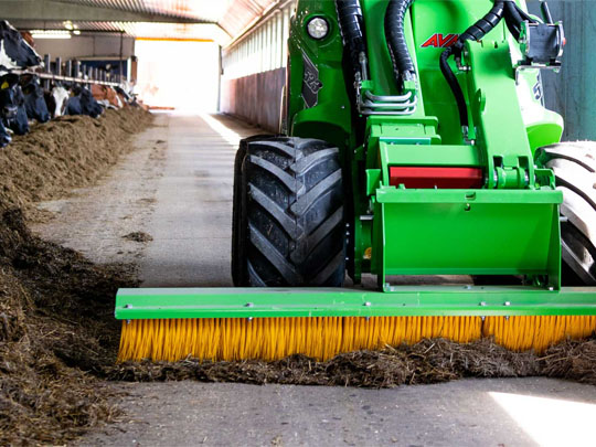 Avant® loader attachments - push broom, carousel broom
