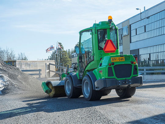 Avant® loader attachments - rotary broom