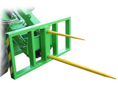 Avant® loader attachments - round bale fork