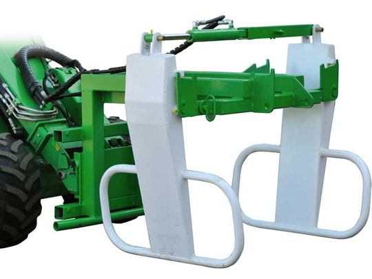 Avant® loader attachments - round bale grab