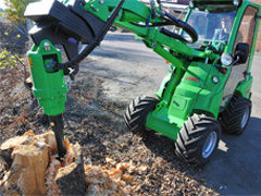 Avant® loader attachments - tree stump buster