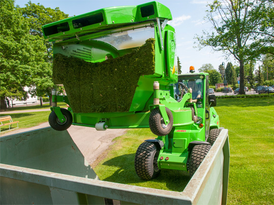 Avant® front loaders - collecting lawnmower 1200 UK Avant sales