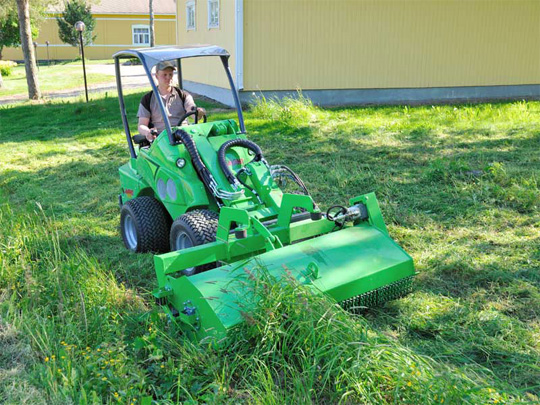 Avant® front loader attachments - Flail mowers, Avant loader