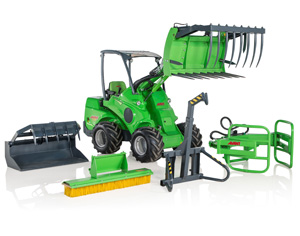 Avant loader attachments, Avant lawnmower attachments with UK delivery
