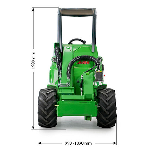 Avant 400 Series loader size